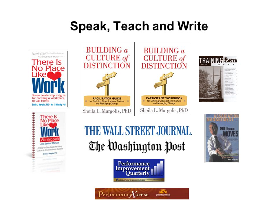 Speak, Teach and Write