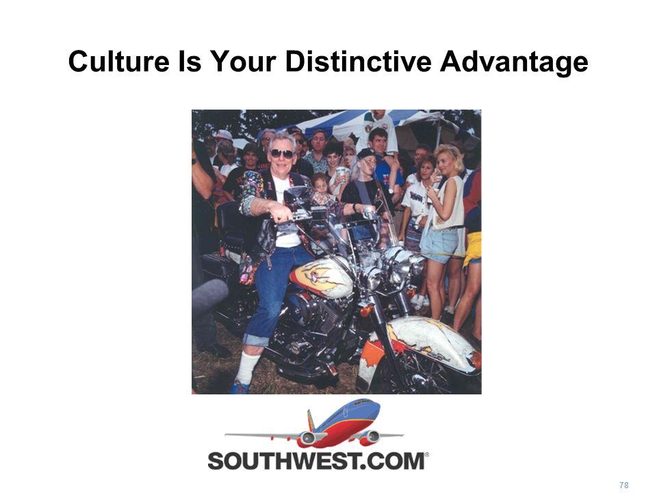 78 Culture Is Your Distinctive Advantage