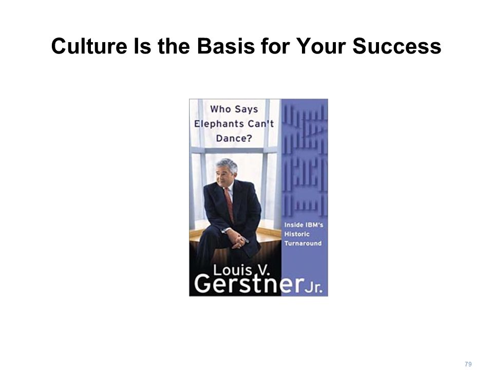 79 Culture Is the Basis for Your Success