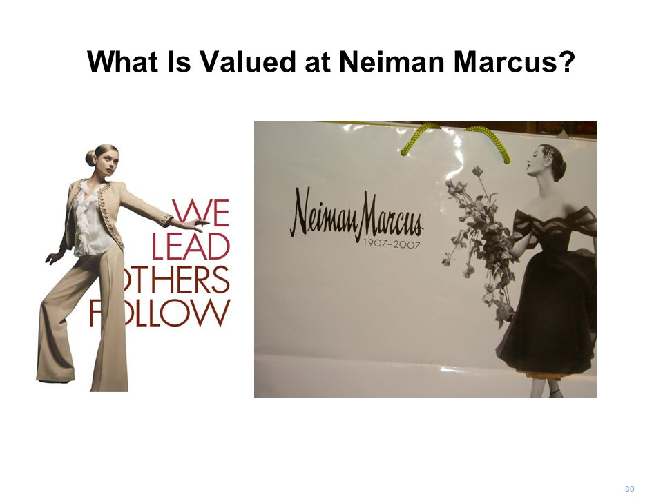 80 What Is Valued at Neiman Marcus?