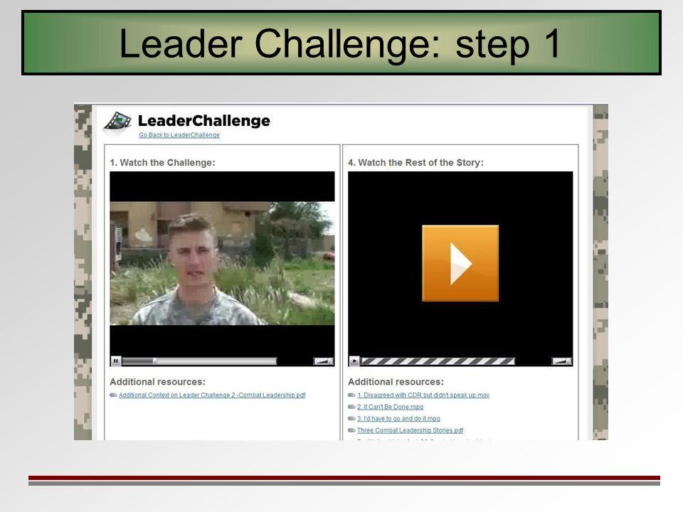 Leader Challenge: step 1