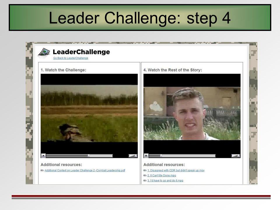 Leader Challenge: step 4