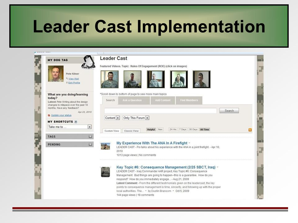 Leader Cast Implementation
