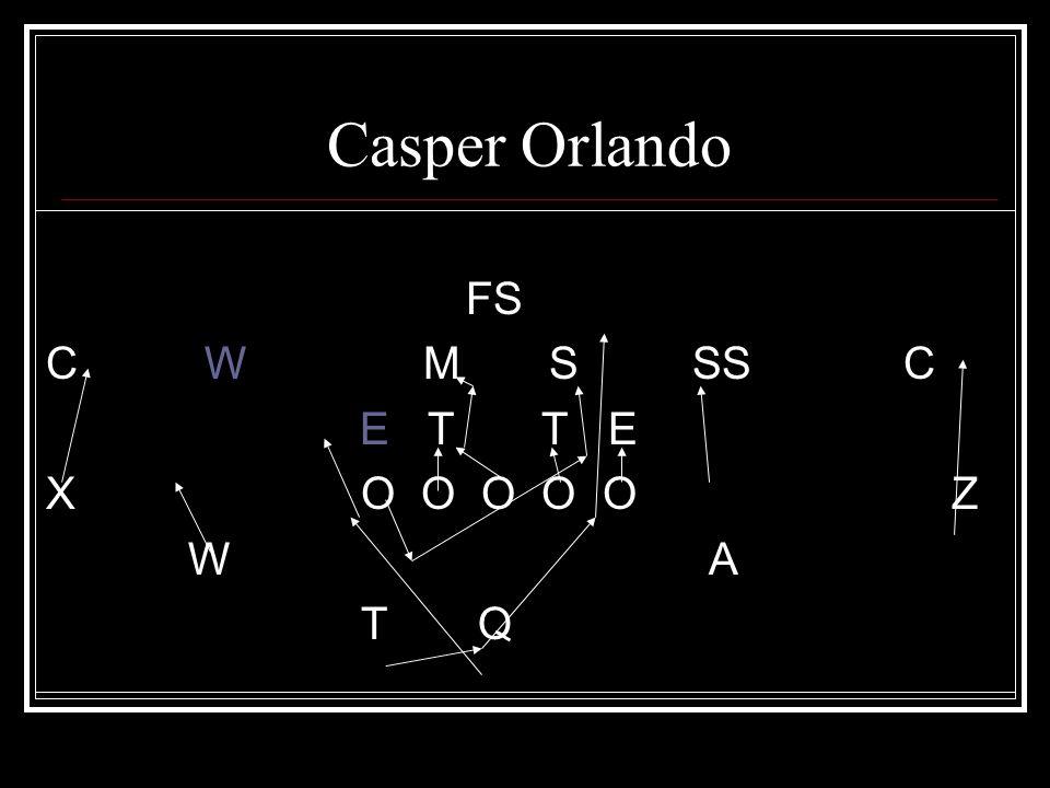 Casper Orlando FS C W M S SS C E T T E XO O O O O Z W A T Q