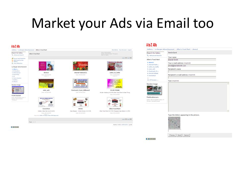 Market your Ads via  too