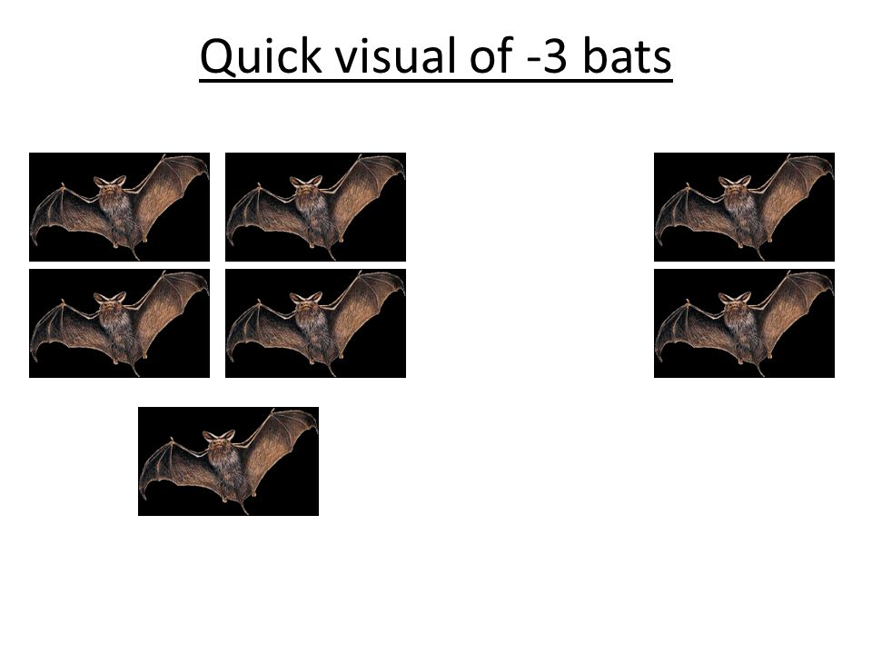 Quick visual of -3 bats