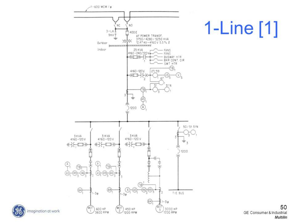 50 GE Consumer & Industrial Multilin 1-Line [1]