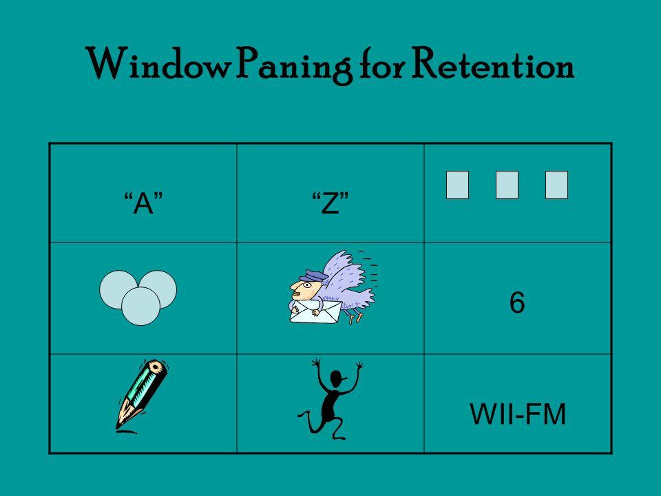 Window Paning for Retention AZ 6 WII-FM