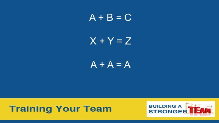 A + B = C X + Y = Z A + A = A