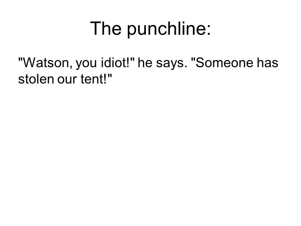 The punchline: