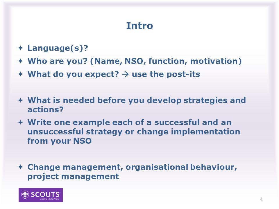 Managing change 5 Why change things.