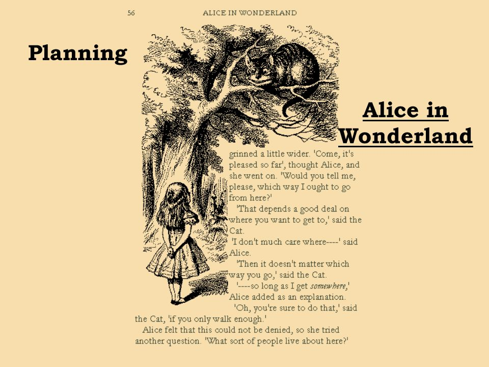 Planning Alice in Wonderland