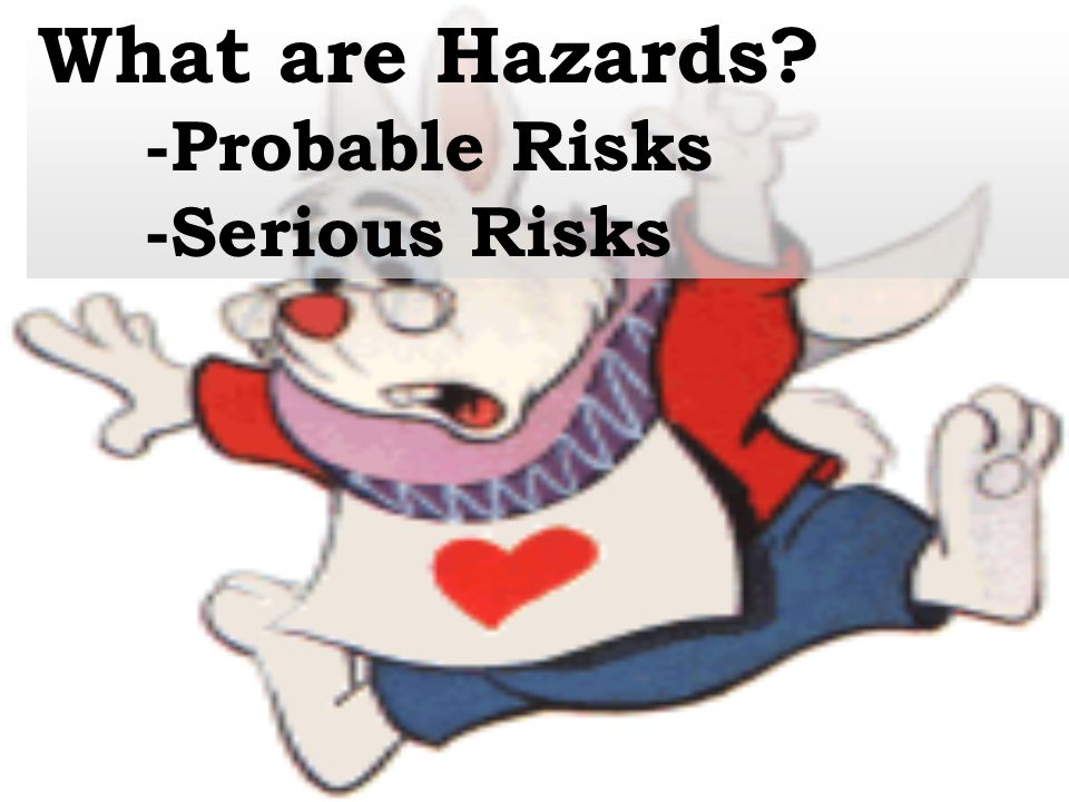 What are Hazards -Probable Risks -Serious Risks