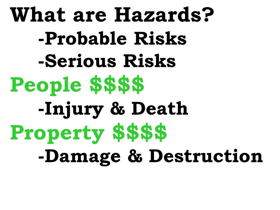 What are Hazards.