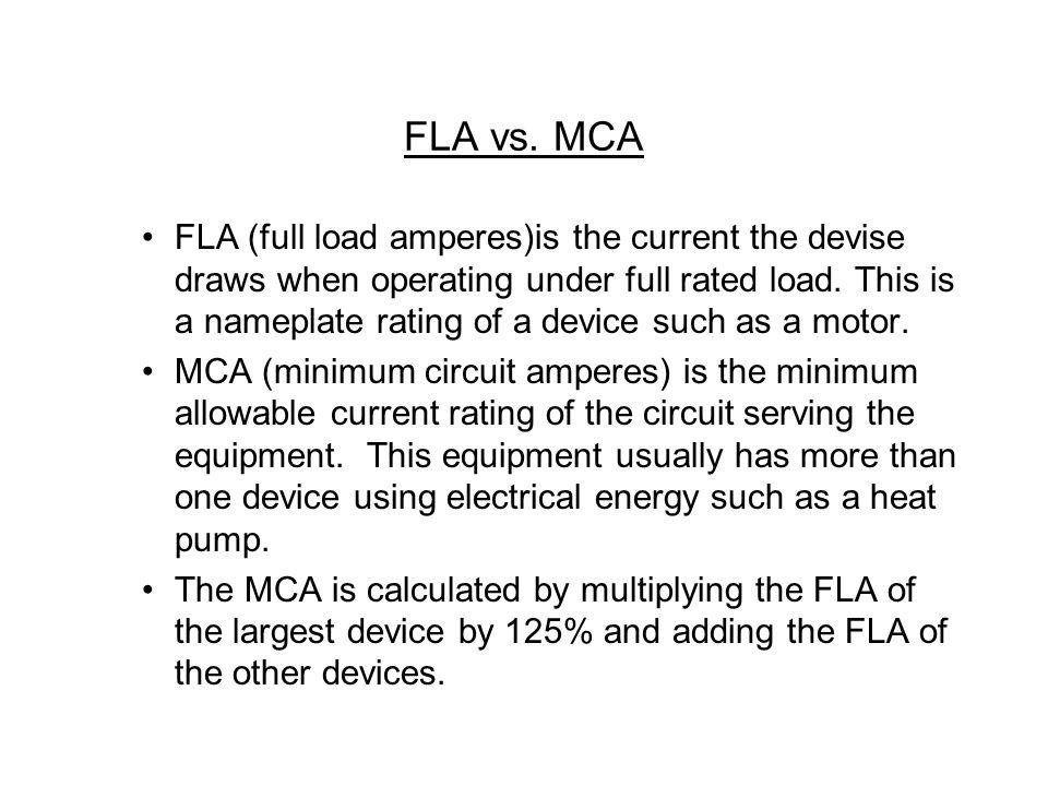 FLA vs.