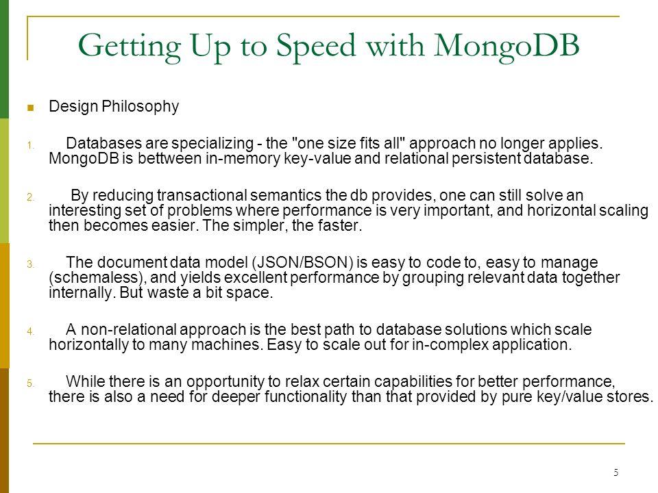 56 Datafiles layout & Memory-Mapped Storage Engine 1.