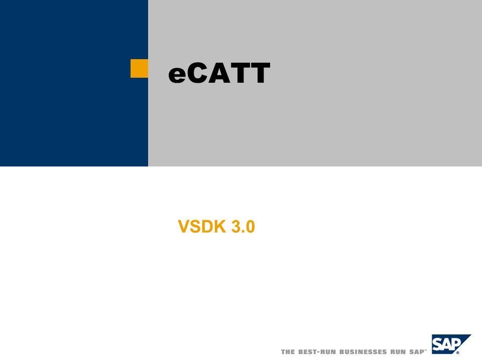 eCATT VSDK 3.0