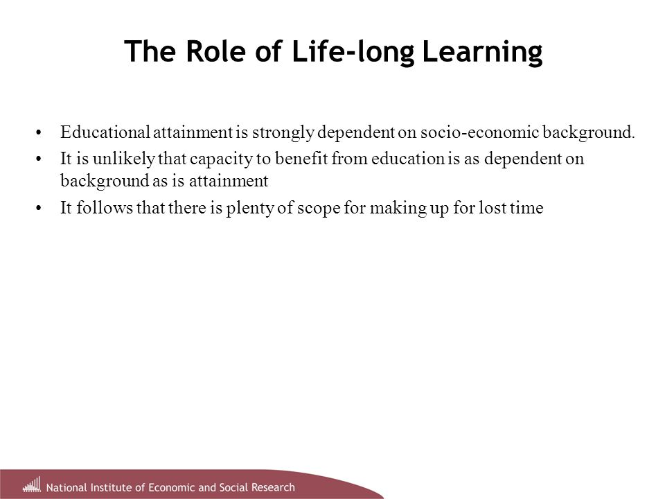 The Spread of Life-long Learning 1994.