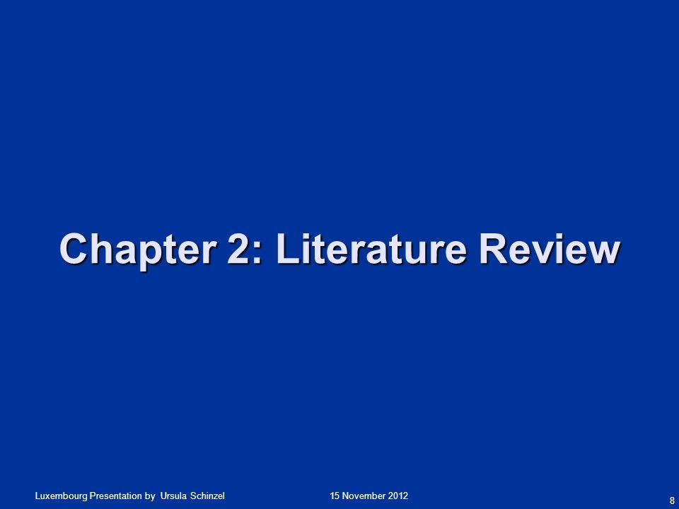 15 November 2012Luxembourg Presentation by Ursula Schinzel Literature Review Going beyond Hofstede.