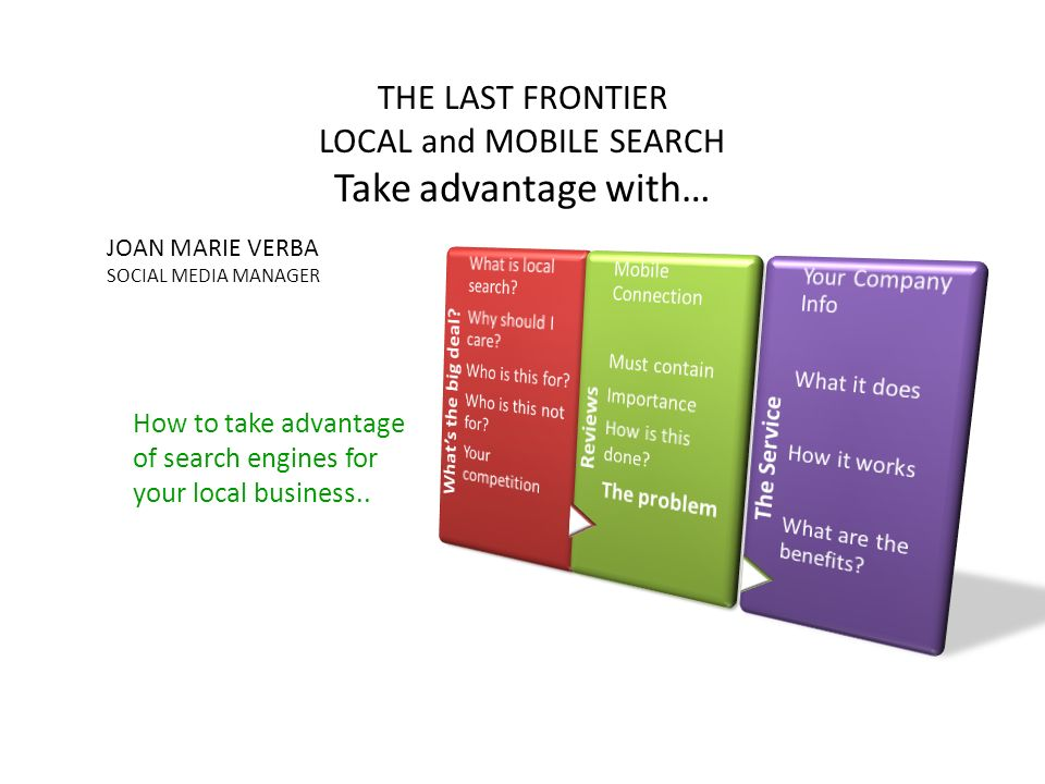 How to take advantage of search engines for your local business..
