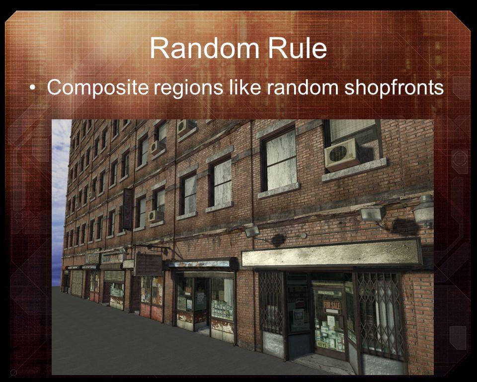 Random Rule Composite regions like random shopfronts