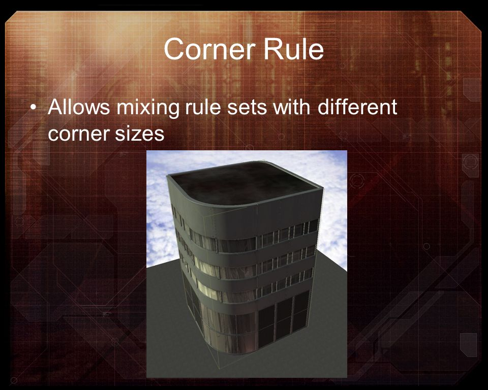 Corner Rule Allows mixing rule sets with different corner sizes