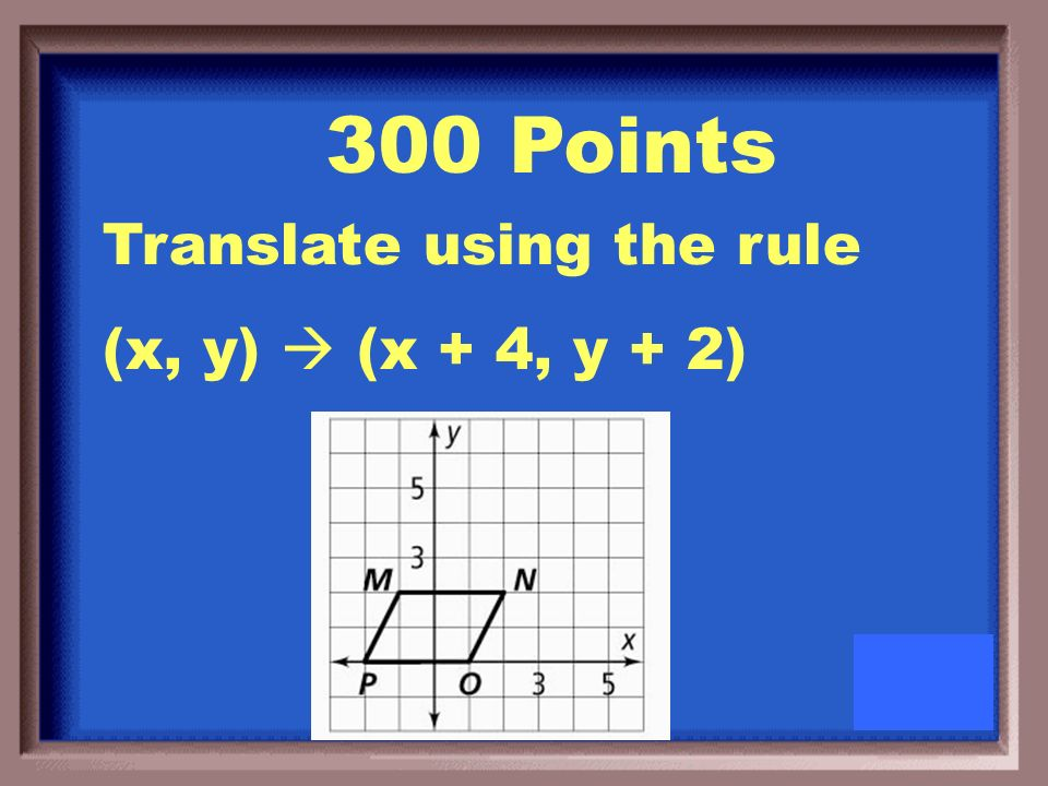 200 Points What are new coordinates if the triangle is translated left 2 units and up 5 units
