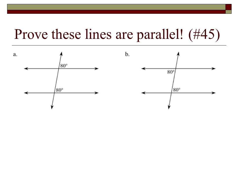 Converses and Parallel Notation Converse – switch the If and then in a theorem The notation for parallel lines are 2 slashes between the lines that ar