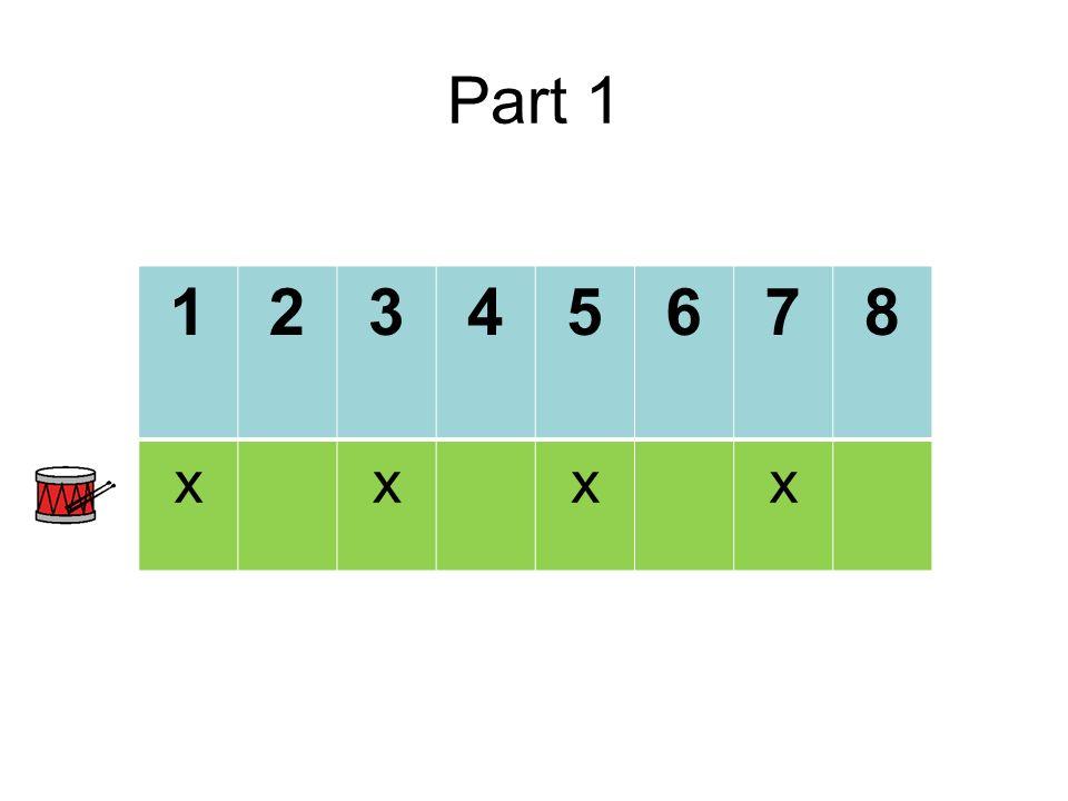 Part 1 12345678 xxxx