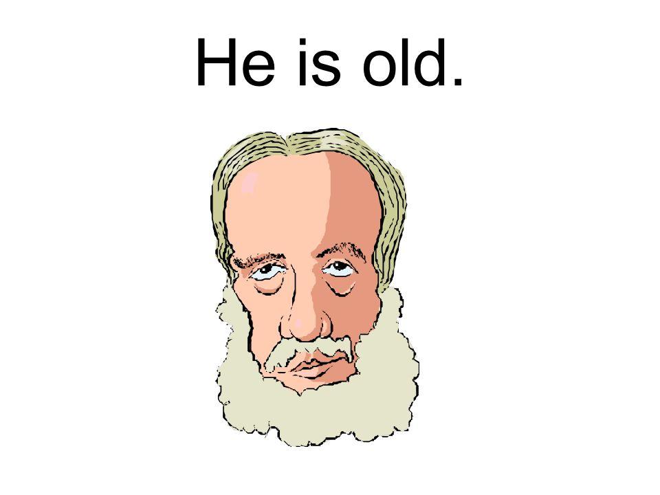 He is …………………