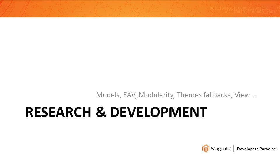 RESEARCH & DEVELOPMENT Models, EAV, Modularity, Themes fallbacks, View …