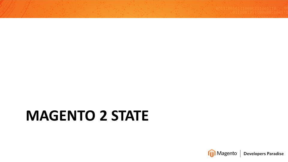 MAGENTO 2 STATE