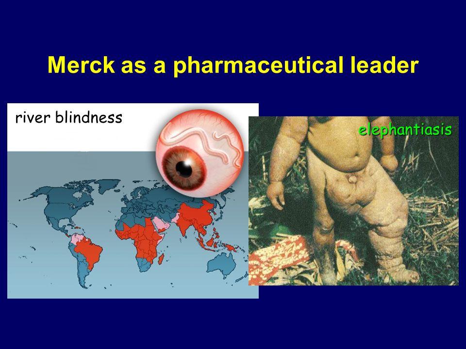 African black fly microfilaria river blindness elephantiasis Merck as a pharmaceutical leader