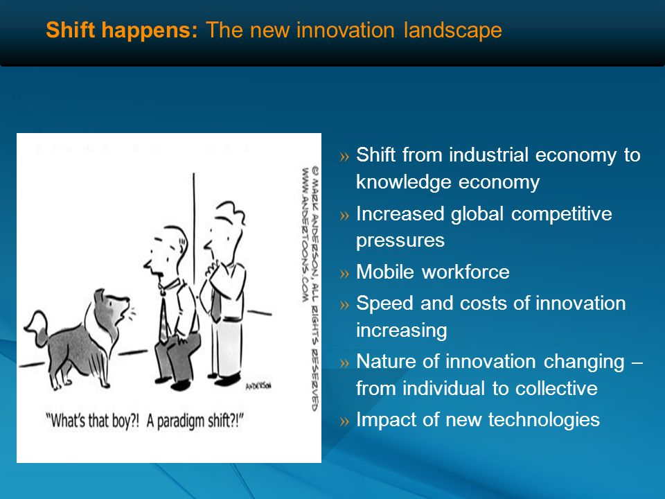 Shift happens: The new innovation landscape » Whats driving this change?