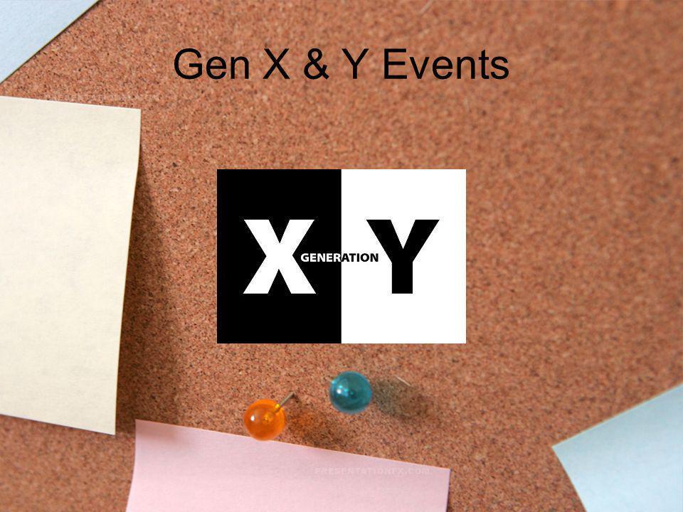 Gen X & Y Events