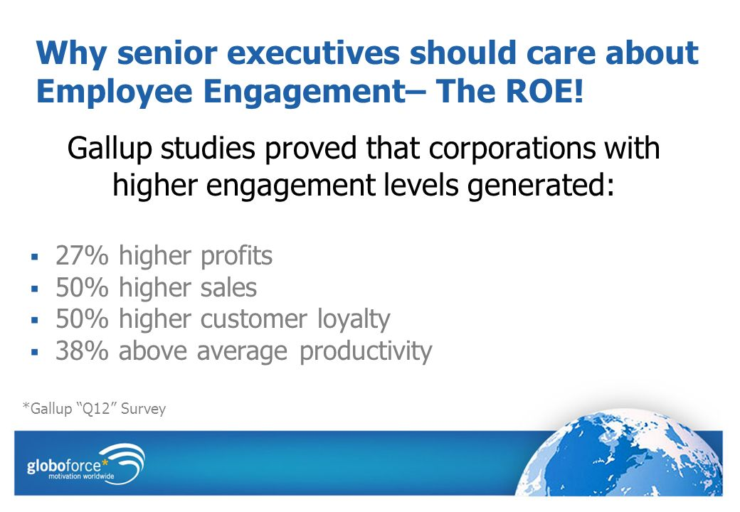 Why senior executives should care about Employee Engagement– The ROE.