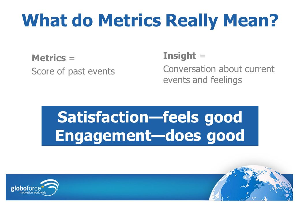 What do Metrics Really Mean.