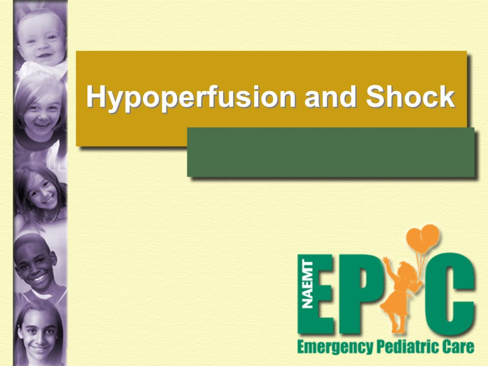Hypoperfusion and Shock