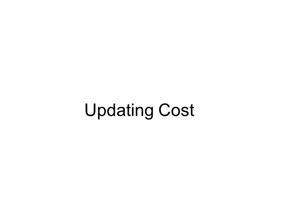 Updating Cost