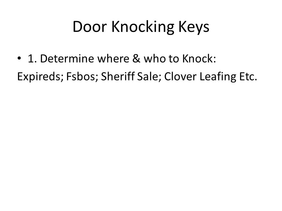 Door Knocking Keys 1.