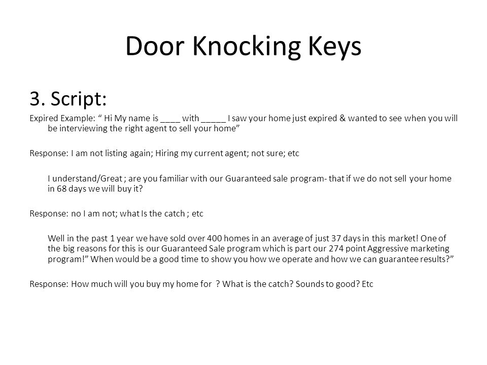 Door Knocking Keys 3.