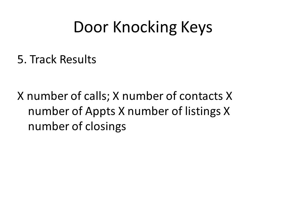 Door Knocking Keys 5.