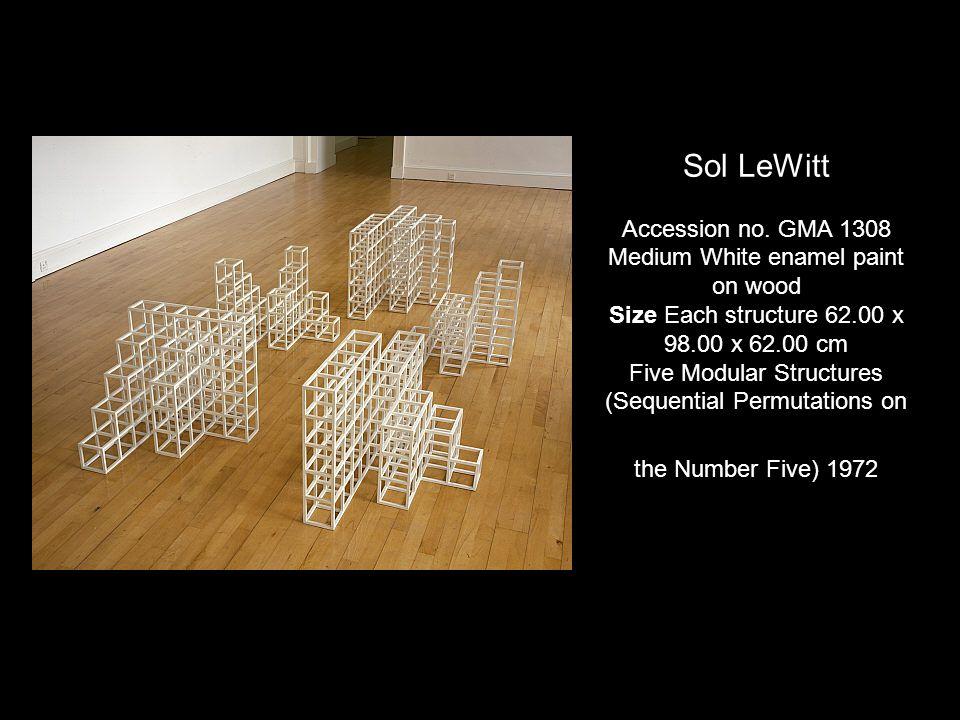 Sol LeWitt Accession no. GMA 1308 Medium White enamel paint on wood Size Each structure 62.00 x 98.00 x 62.00 cm Five Modular Structures (Sequential P