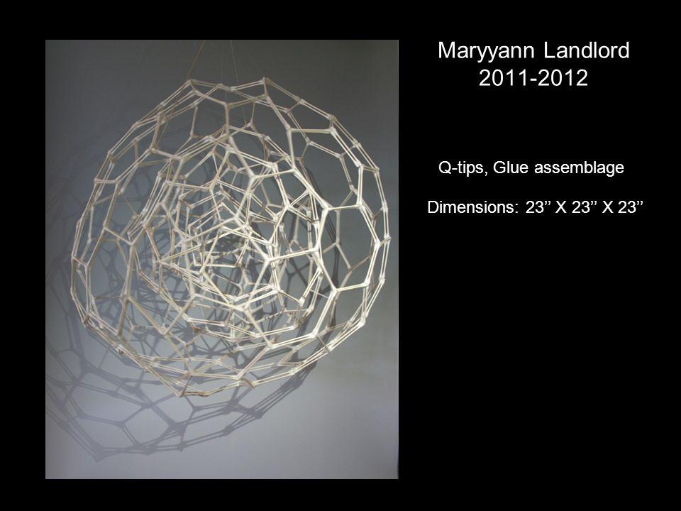 Maryyann Landlord 2011-2012 Q-tips, Glue assemblage Dimensions: 23 X 23 X 23