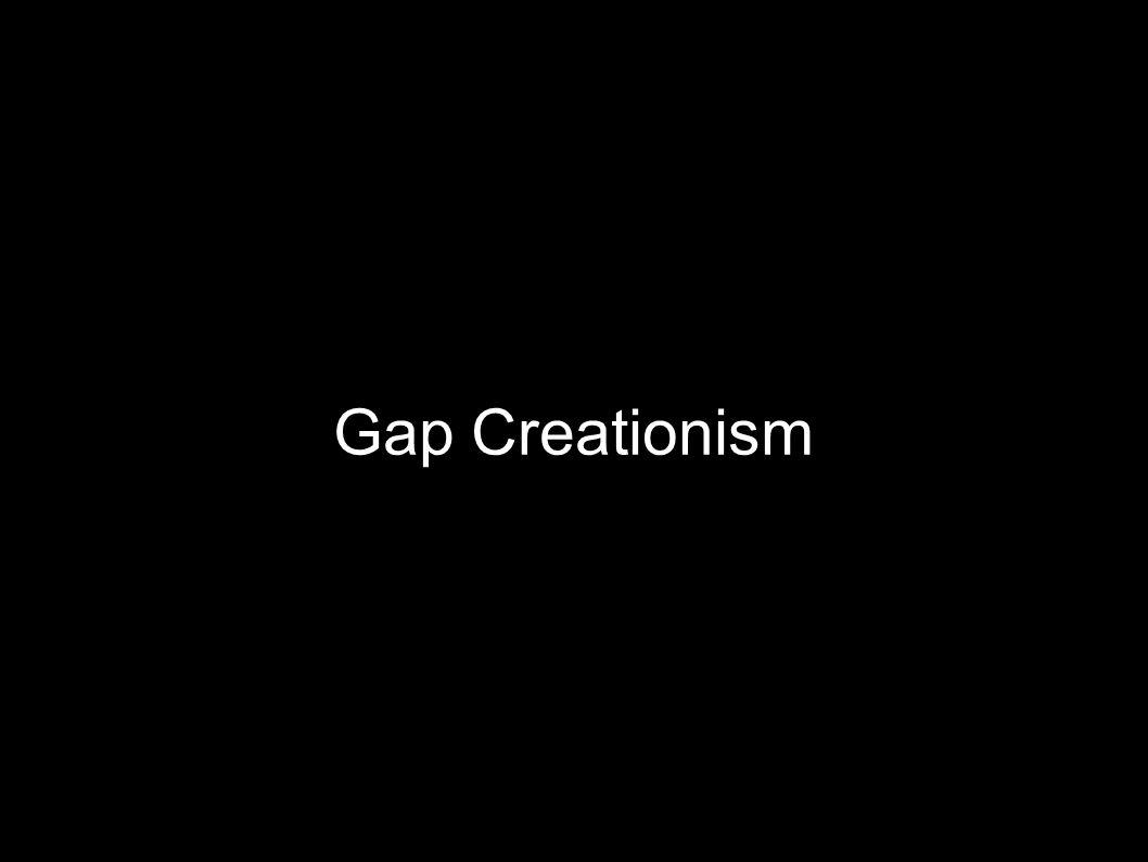 Gap Creationism