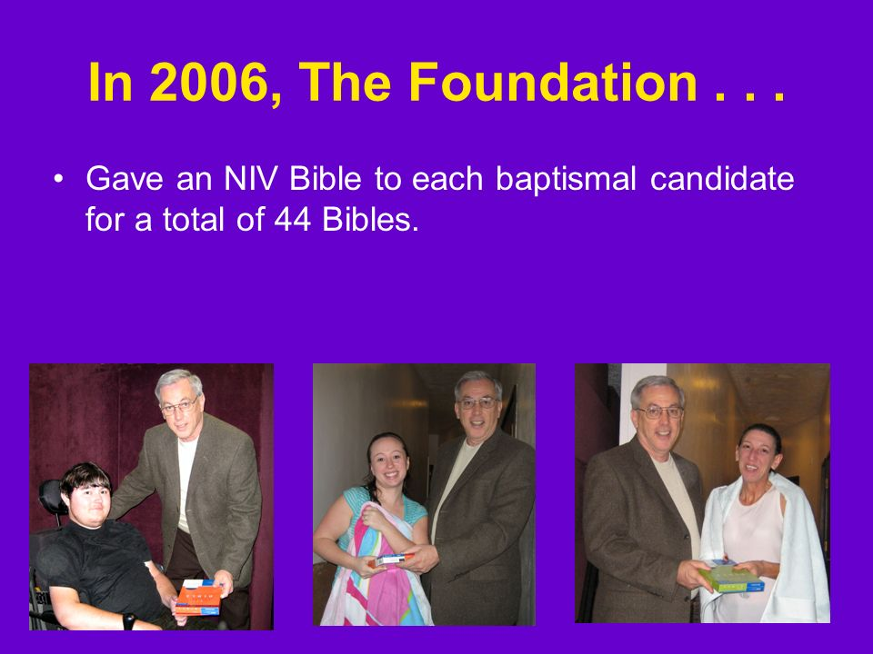 The Bible Memorial Fund