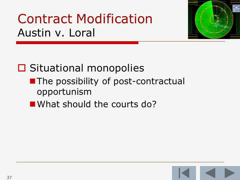 Contract Modification Austin v.