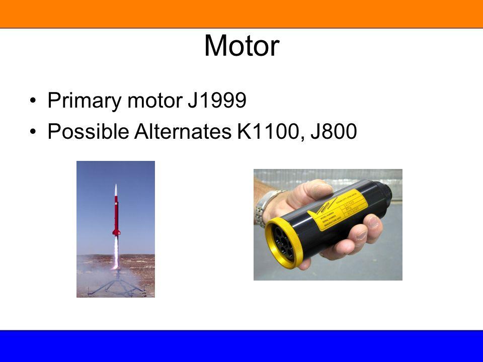 Motor Primary motor J1999 Possible Alternates K1100, J800