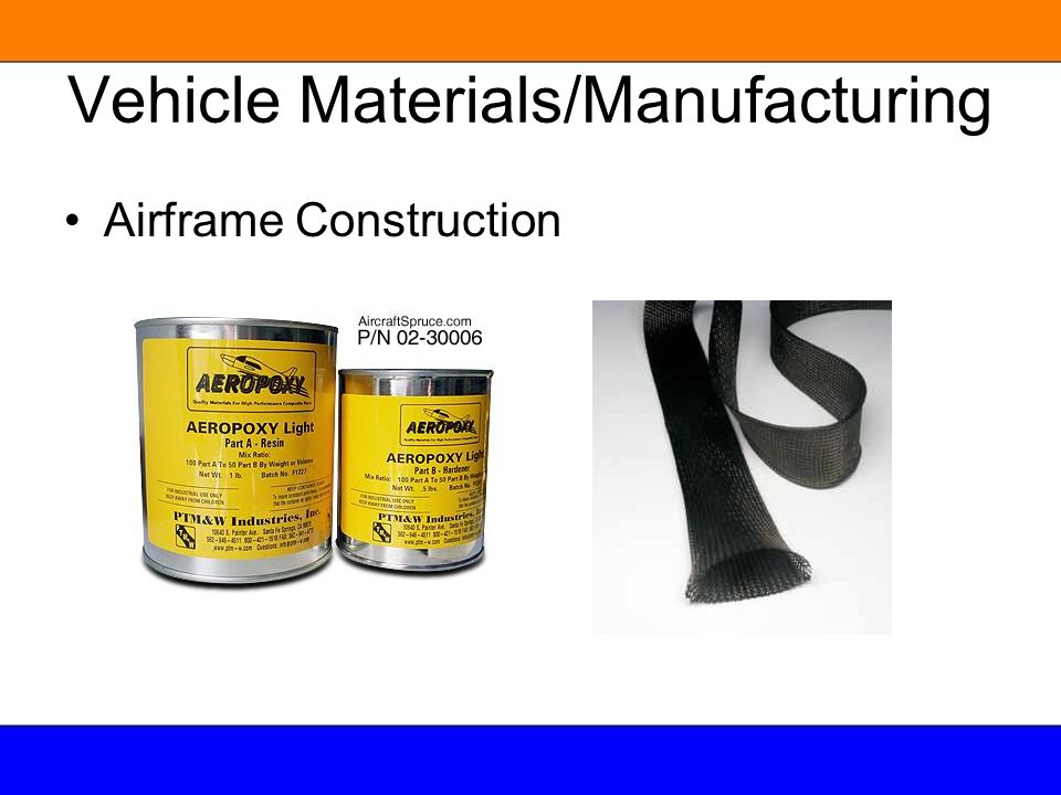 Vehicle Materials/Manufacturing Airframe Construction