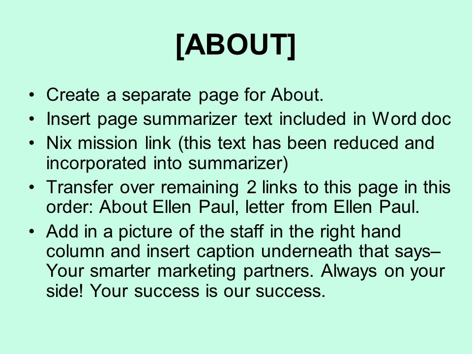 [ABOUT] Create a separate page for About.